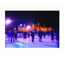Skating - Hampton Court Palace  Art Print