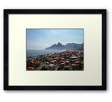 Beach of Umbrellas Framed Print