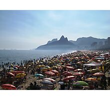 Beach of Umbrellas Photographic Print