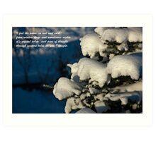 Snow Poem Art Print