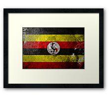 Uganda Grunge Framed Print