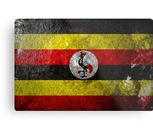 Uganda Grunge Metal Print