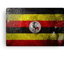 Uganda Grunge Canvas Print