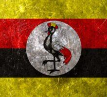 Uganda Grunge Sticker