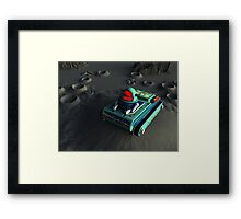 Toy Space Tank 2 Framed Print