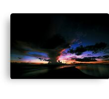 coloured clouds Canvas Print