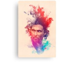 Matthew McConaughey Ink Watercolor Splash Portrait True Detective Canvas Print