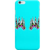 Ripping Monster Claws Demon Within Lime and Pink iPhone Case/Skin