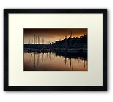 Kinsale Glows In The Winter Sunlight Framed Print