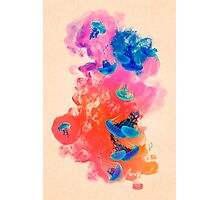 Psychedelic Ink Jellyfish Dream Watercolor Photographic Print