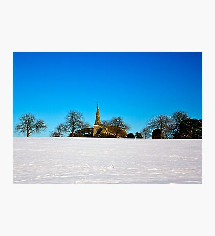 The Church on the Hill Photographic Print