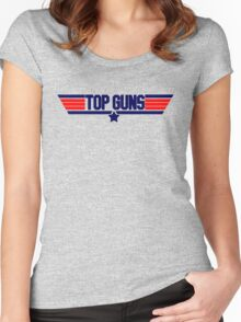 Top Guns Women's Fitted Scoop T-Shirt