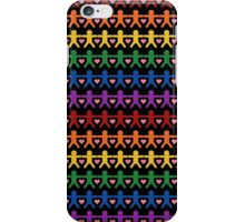 Hand in Hand with Love Pattern Art iPhone Case/Skin