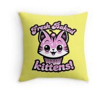 Fresh Baked Kittens  Throw Pillow