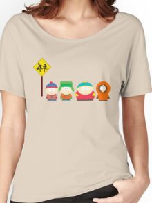 South Park Bus stop Women's Relaxed Fit T-Shirt