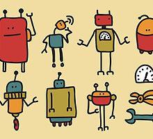 Retro robots. by Ekaterina Panova