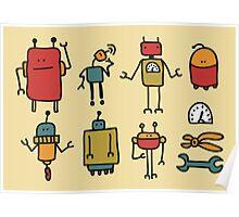 Retro robots. Poster