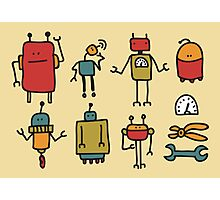 Retro robots. Photographic Print