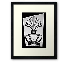 Bottle in a black frame 2 Framed Print