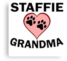 Staffie Grandma Canvas Print