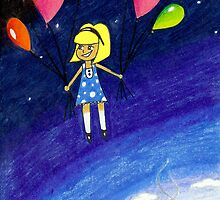 Up, Up, and Away! (Sketchbook Project #1) by Lynsye Medalia
