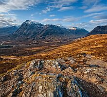 Buachaille Etive Mor from the Devil's Staircase by Chris McIlreavy