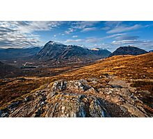 Buachaille Etive Mor from the Devil's Staircase Photographic Print