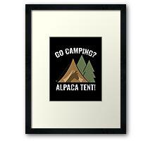 Alpaca Tent Framed Print