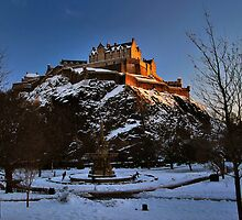 Wintry Edinburgh Castle by Andrew Ness - www.nessphotography.com