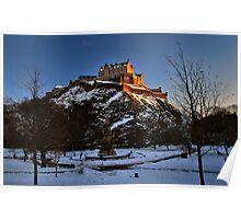 Wintry Edinburgh Castle Poster