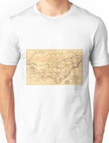 Civil War Sherman's March from Atlanta to Goldsboro Map Unisex T-Shirt