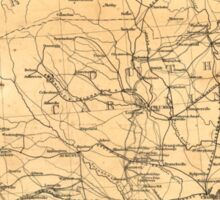Civil War Sherman's March from Atlanta to Goldsboro Map Sticker