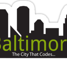 Baltimore The City That Codes Sticker