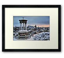 Turned to White - Edinburgh Framed Print