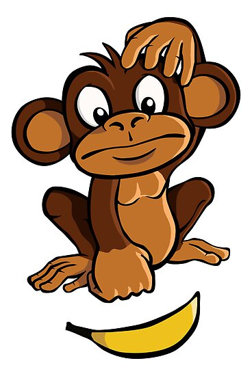 """""""Confused monkey"""" Posters by Colin Cramm 
