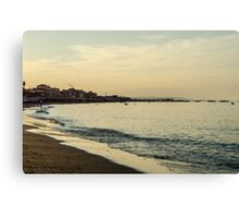 Sunset on the beach - Italy  Canvas Print