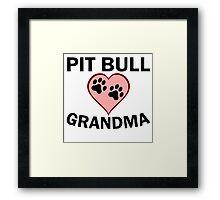 Pit Bull Grandma Framed Print