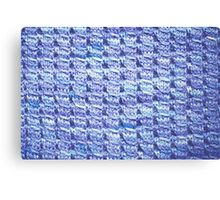 Handknit Block Fabric Canvas Print