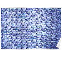 Handknit Block Fabric Poster