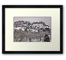 White Out - Edinburgh Castle Framed Print