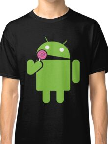 Android eats a lollipop Classic T-Shirt