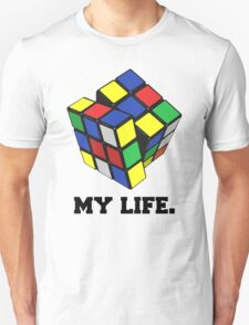 "Rubix Cube (Complex), ""My Life."" Quote T-Shirt"
