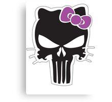 Kitty Punisher Canvas Print