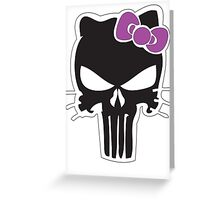 Kitty Punisher Greeting Card