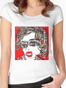 Punk Rock Girl Women's Fitted Scoop T-Shirt