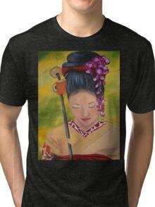 Geisha Doll Tri-blend T-Shirt