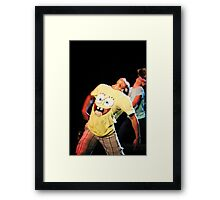 Cartoon dancers Framed Print