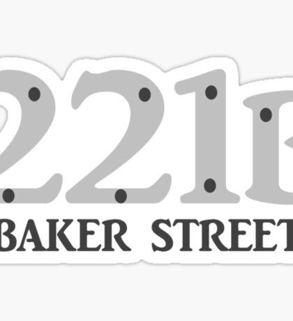 Sherlock - 221B Baker Street Sticker