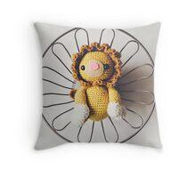 Leo the Crochet Lion Throw Pillow