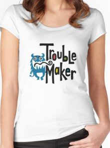 Trouble Maker born bad - earth Women's Fitted Scoop T-Shirt